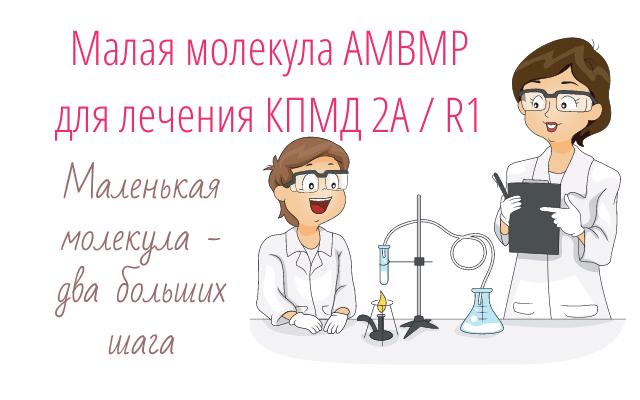 Малая молекула AMBMP для лечения КПМД 2А / R1
