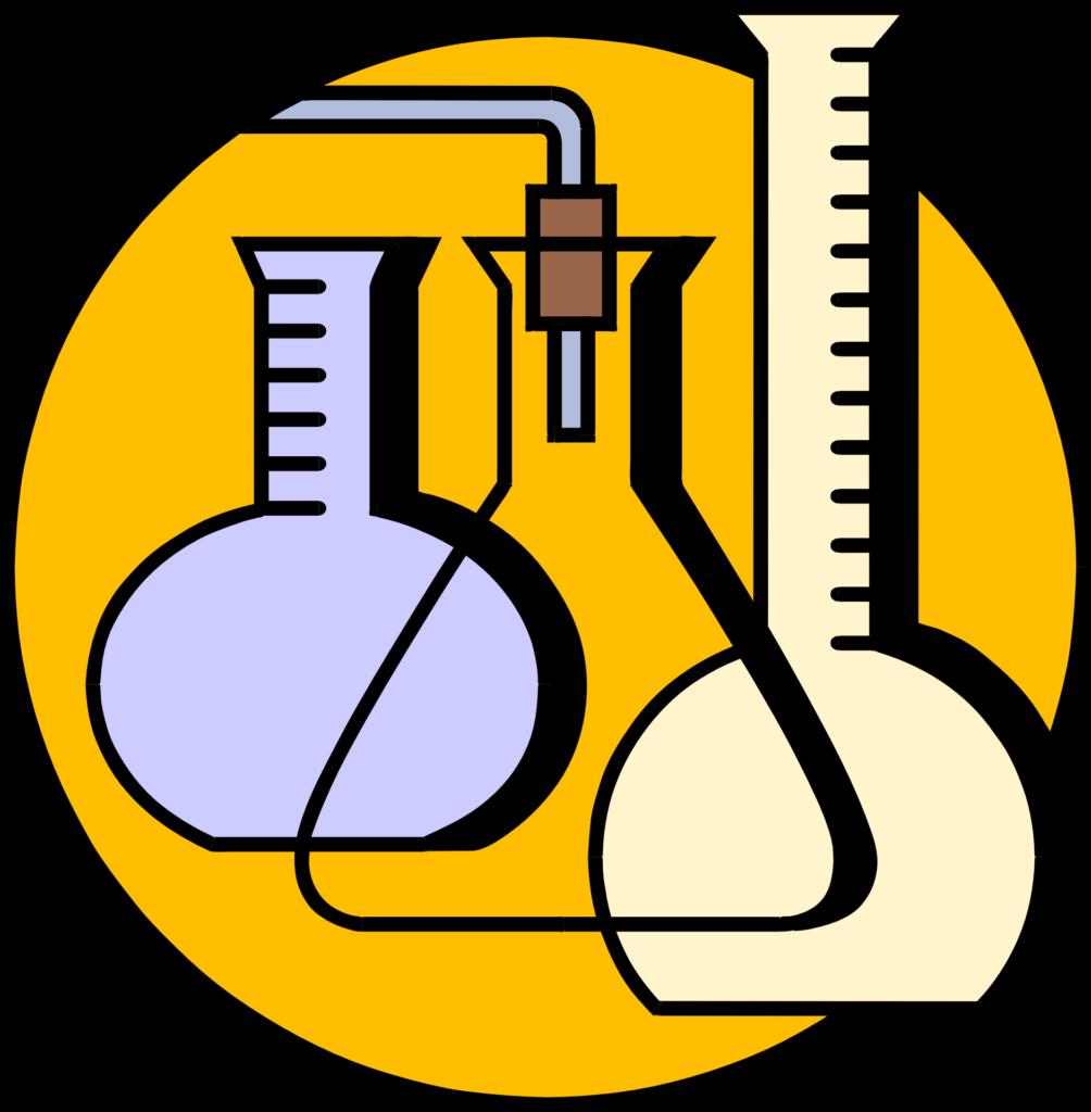 Иллюстрация лабораторных колб