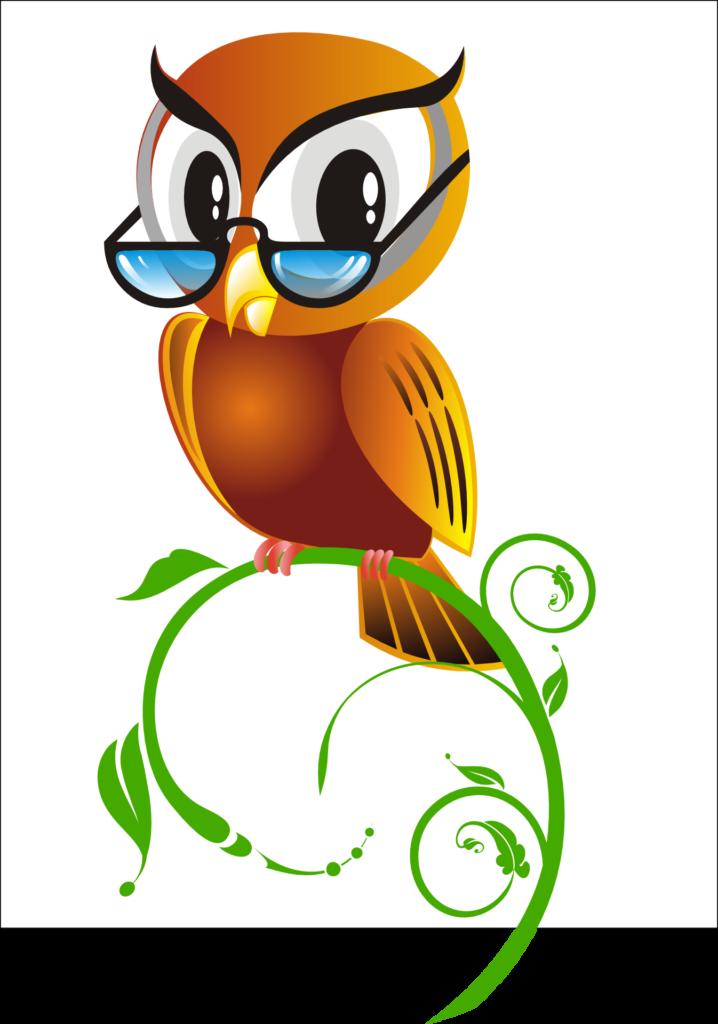 Иллюстрация совы в очках