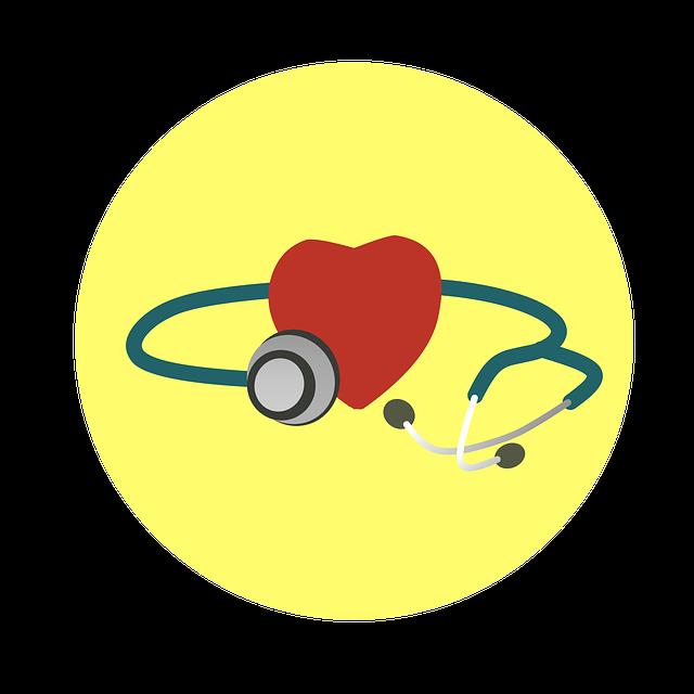Иллюстрация сердца и фонендоскопа